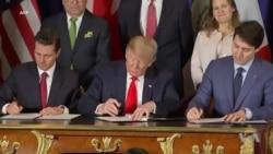 Etats-Unis, Canada et Mexique signent un traité de libre-échange (vidéo)