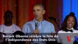 Barack Obama célèbre le 4 juillet et l'anniversaire de sa fille