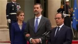 Déclaration de François Hollande avec le roi d'Espagne Felipe VI