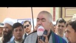 عبدالرشید دوستم خواستار رفع تنش میان جمعیت و جنبش شد.