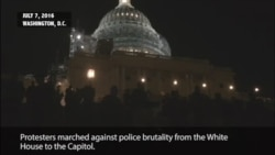 Protesters Against Police Brutality March to Capitol Hill