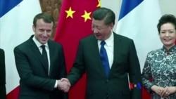 2018-1-8 美國之音視頻新聞: 馬克龍訪中國謀求戰略夥伴關係