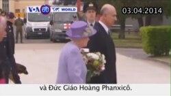 Nữ hoàng Anh hội kiến Đức Giáo Hoàng (VOA60)