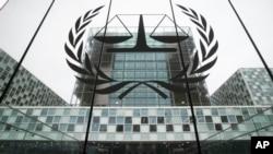 Entrada de la Corte Penal Internacional (CPI) en La Haya, los Países Bajos, el 7 de noviembre de 2019.