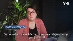 Direkrorka Građanskih incijativa Maja Stojanović o novom izveštaju Fridom hausa