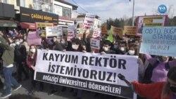Boğaziçi Üniversitesi Öğrencileri Yeni Rektörü Protesto Etti
