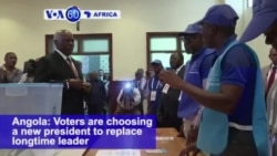 VOA60 Africa - Angola Votes in Historic Poll