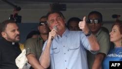 Presidente brasileiro discursa para apoiantes em São Paulo, 7 de Setembro de 2021