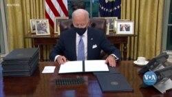 Президент Байден планує цього тижня підписати ще низку указів, на підтримку головних обіцянок, даних під час виборчої кампанії. Відео