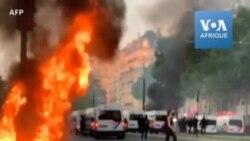 Les forces de l'ordre déployées à Paris après des incidents