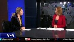 Kryetarja e LSI-së, Monika Kryemadhi komenton për situatën politike në Shqipëri