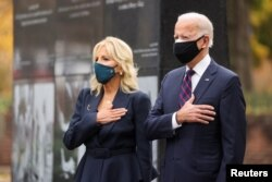Prezidentlikka saylangan Jo Bayden rafiqasi Jill Bayden bilan, Filadelfiya, 11-noyabr, 2020
