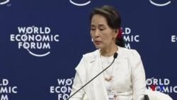 緬甸領導人昂山素姬為囚禁路透社記者辯護 (粵語)