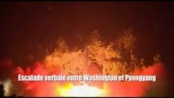 Escalade verbale entre Washington et Pyongyang (vidéo)