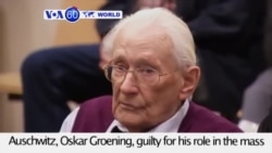 VOA60 World- Court finds 94-year-old bookkeeper of Auschwitz, Oskar Groening, guilty for his role in the Holocaust- July 15, 2015
