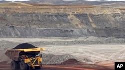 Tambang batubara di kota Gillette, negara bagian Wyoming, AS.