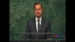 Leonardo DiCaprio prononce un vibrant discours sur le climat devant les Nations Unies