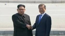 د شمالي او جنوبي کوریاو د مشرانو د لیدنې کتنې ویدیو