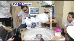 Vijana wabunifu huko misri watengeneza robot inayotenegeneza candy floss.