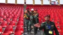 لاہور: میچ سے قبل ریسکیو 1122 کے اہلکاروں کی مشق