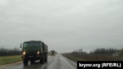 Российская военная техника движется в сторону Красноперекопска. Крым, 24 декабря 2020