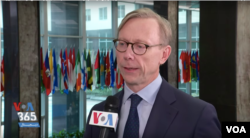 U.S. Special Representative for Iran Brian Hook speaks to VOA Persian at the State Department in Washington, Feb. 26, 2020.