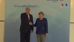 Trump Hamburg'da Merkel'le Görüştü