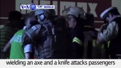 VOA60 World- Germany: 17-year old Afghan refugee wielding an axe and a knife attacks passengers on a train