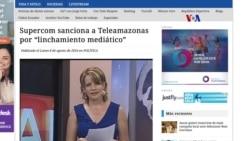 Teleamazonas, sancionado en Ecuador por investigación periodística.