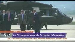 Militaires américains tués au Niger : le Pentagone accepte les résultats de l'enquête