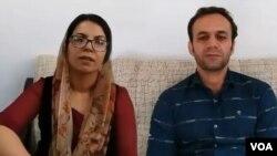 سیروس عباسی (راست) و فریده ویسی، دو فعال مدنی اهل کردستان