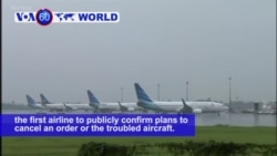 VOA60 World PM - Indonesia Airline Cancels 49-jet Boeing Deal