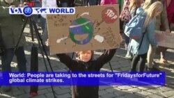 "VOA60 World - People are taking to the streets for ""FridaysforFuture"" global climate strikes"