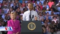 Tổng thống Obama đi vận động cho bà Clinton
