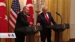 Tevî Xwepêşandanên Dijber, Trump Erdogan bi Germî Pêşwazî Kir