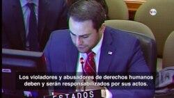 EE.UU. pide aplicar la Carta Democrática a Nicaragua