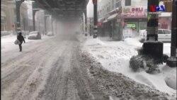 Karın Hayatı Felç Ettiği New York'tan Görüntüler