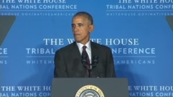 President Barack Obama speaks at the Tribal Nations Conference