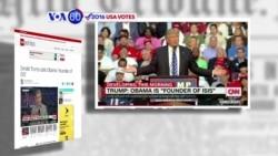 """Manchetes Americanas 11 Agosto: Donald Trump chama o Presidente Obama de """"fundador do Estado Islâmico"""""""