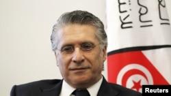 Nabil Karoui, magnat des médias, lors du dépôt de sa candidature à la commission électorale tunisienne, le 2 août 2019.