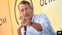 Republikanac Mark Sanford govori na OZY festivalu u Central parku u New Yorku 21. jula 2018.