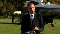 2014-10-29 美國之音視頻新聞: 奧巴馬稱讚美國為應對伊波拉所做的努力