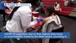 VOA60 America - COVID-19 cases have risen to their highest daily levels in recent months