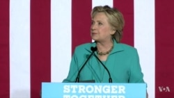 Democrat Clinton Calls Timing of FBI Email Probe 'Strange'