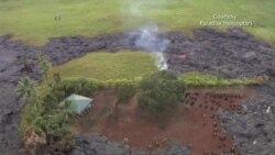 Flujo de lava llega a propiedad privada