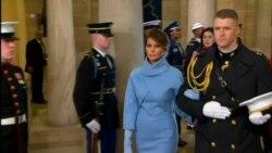 Melania Trump Arrival Inauguration Ceremony