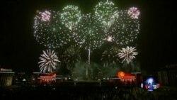 全球各地以欢呼,焰火和希望迎接2015年