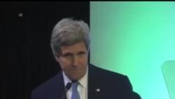 2014-02-16 美國之音視頻新聞: 克里在印尼警告全球氣候變化問題