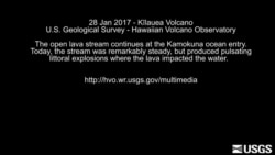 Dramatic USGS video of lava flow from Hawaii volcano