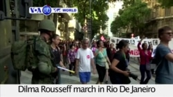 VOA60 World - Supporters of suspended president Rousseff march against the government of interim president Temer